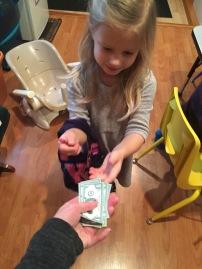 KS buying her ticket