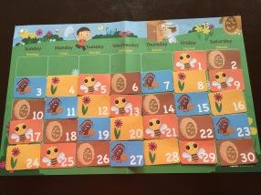 April Calendar for Circle Time