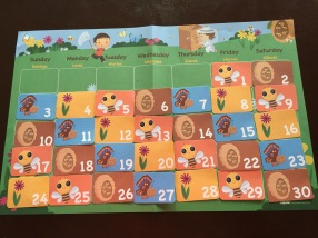 April Calendar for Circle Time